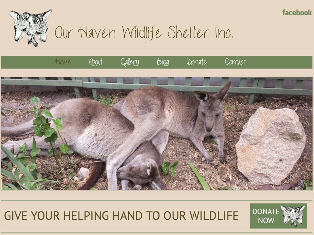 Our Haven Wildlife Shelter Home Page